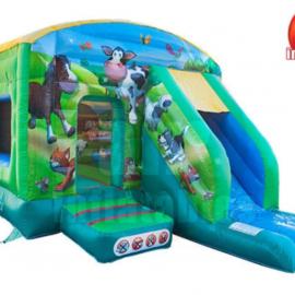 Farmyard Combi Slide Bouncy Castle