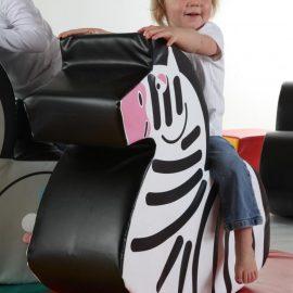 Softplay Zebra Rocker